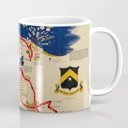 Vintage Omaha Beach D-Day Invasion Map (1945) Coffee Mug