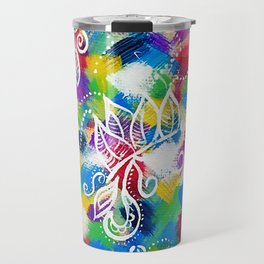 Colours_Abstract Painting_Art Travel Mug