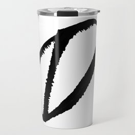 Letter D Ink Monogram Travel Mug