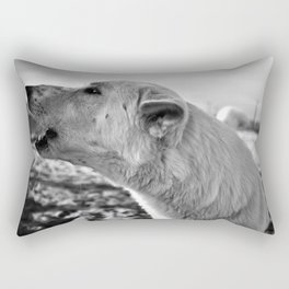 Dog B&W Rectangular Pillow
