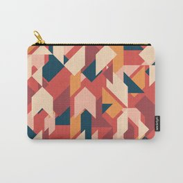 Abstract geometric background. Vintage overlapping rectangles and triangles. Carry-All Pouch