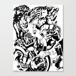 Doktor Steampug- Black and White Canvas Print