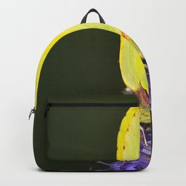 Yellow Butterfly On Purple Flower #decor #society6 #buyart Backpack