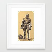 andreas preis Framed Art Prints featuring Andreas Groll (photographer, 1812–1872): Armour / Rüstung by Ouijawedge