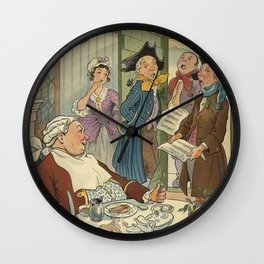 Vintage Christmas Caroling Illustration (1903) Wall Clock