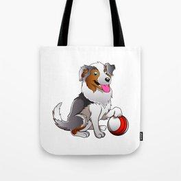 Cartoon Dog with ball Tote Bag