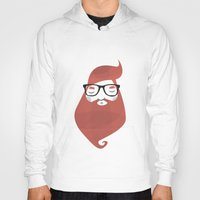 hipster Hoodies featuring Hipster by Volkan Dalyan