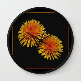 dandelion flying saucers (square) Wall Clock