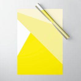 Simple Geometric Triangle Pattern - White on Yellow - Mix & Match with Simplicity of life Wrapping Paper