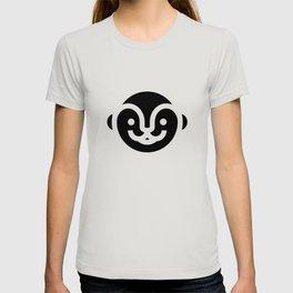 otter emoji black T-shirt