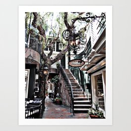 Laguna Beach's Peppertree Lane Art Print