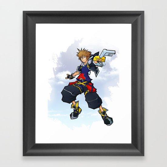 Kingdom Hearts 2 - Sora Framed Art Print