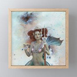 Space Siren: Mermaids of the Sky Framed Mini Art Print