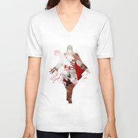 assassins creed V-neck T-shirts featuring Assassins Creed: Ezio Auditore da Firenze by Nissie