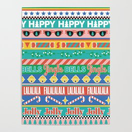 Colorful Modern Contemporary Christmas Poster