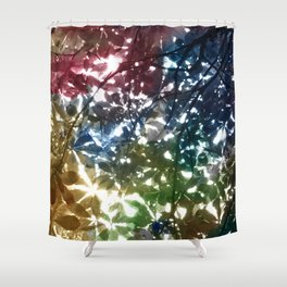 tree leaves Shower Curtain