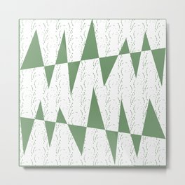Abstract geometric pattern on white background Metal Print