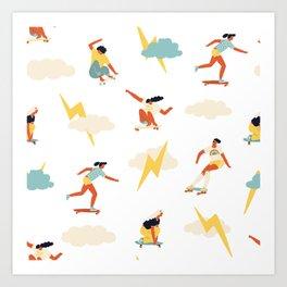 You go, girl pattern! Art Print