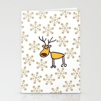 reindeer Stationery Cards featuring Reindeer by Mr and Mrs Quirynen
