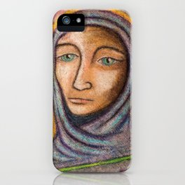 Hooded Lady of Chalk iPhone Case