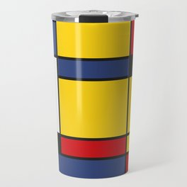 Downtown, Tribute to Mondrian Travel Mug