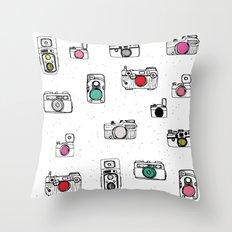 Pop Camera Throw Pillow