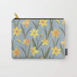 Spring Daffodils Floral Pattern Carry-All Pouch