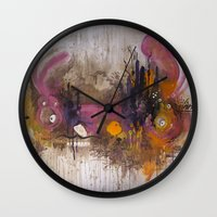 playstation Wall Clocks featuring Pinkpurple Playstation Catrabbit - Gamepad Series by Kid Doom