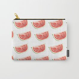 Watercolor Watermelon Slices Pattern Carry-All Pouch