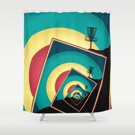 Spinning Disc Golf Baskets 2 Shower Curtain