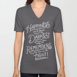 Happiness can be found Unisex V-Neck