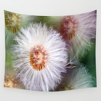 dandelion Wall Tapestries featuring Dandelion by Laake-Photos