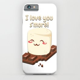 I Love You Smore Camping Tshirt Gifts iPhone Case