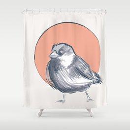 Japanese Sparrow Shower Curtain
