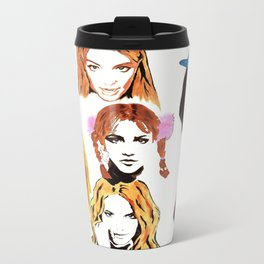 Britney Spears Timeline Metal Travel Mug