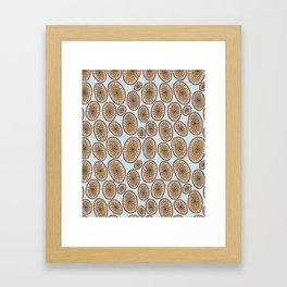 Hagfish Mouth Pattern Framed Art Print