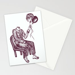 Boy with Balloon Stationery Cards