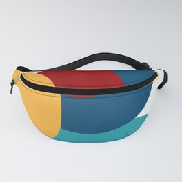 Abstract Composition Yellow Red Blue Art Minimal Fanny Pack