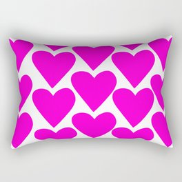 The Pinkest Hearts Rectangular Pillow