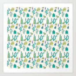 Cacti Critters Art Print