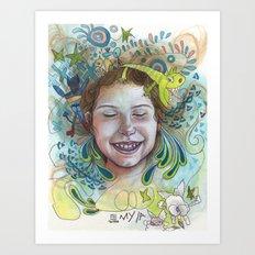 Giggle Art Print