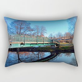 A bridge, the river and reflections II | waterscape photography Rectangular Pillow