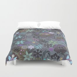 Colorful grey xmas pattern Duvet Cover