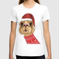 alpaca T-shirts featuring Alpaca Christmas by Barruf