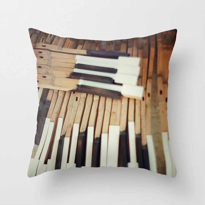 Almost Piano Throw Pillow