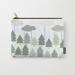 Pacific Northwest Tree and Rain Scene - Portland, PDX, Seattle, Washington, Oregon Carry-All Pouch