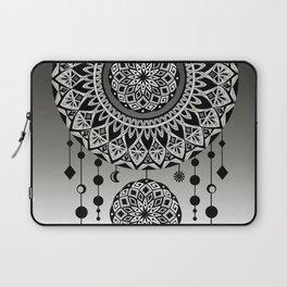 Mandala Dream Catcher (Black & White) Laptop Sleeve