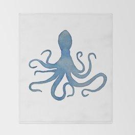 Watercolor Octopus by Lo Lah Studio Throw Blanket