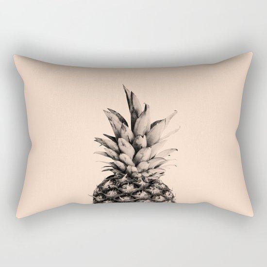 Pineapple on Pink Rectangular Pillow