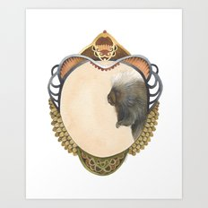 Quilted Forest // Samuel the Porcupine Art Print